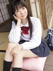 Young japanese girl Mirai Himeno posing outdoor