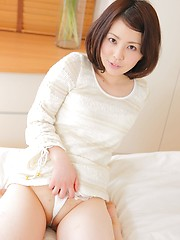 Shaved pussy and tiny tits. Amazing japanese babe Anna Shimizu