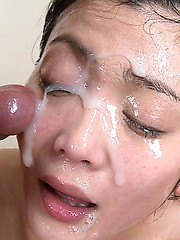 About Innocent girl covered in cum excited too