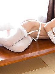 Shino Aoi white stockings