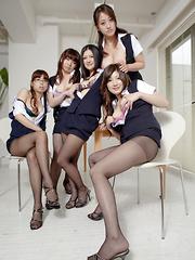 Hot darling Amu Umino shows her stockings