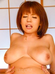 Airu Oshima Asian sucks two tools and has huge cans touched