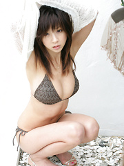 Aki Hoshino Asian with perfect curves is so romantic and superb