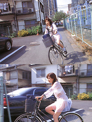Aki Hoshino Asian is so hot in short skirt and see through outfit