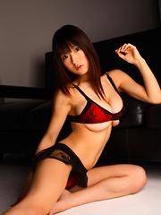 Mizuki Horii Asian in sexy lingerie has some really huge boobs