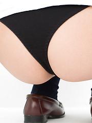 Natsuki Takahashi Asian takes short skirt off and shows hot bum