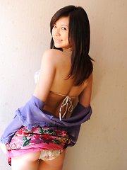 Konomi Yoshikawa Asian smiles being proud of her lustful curves